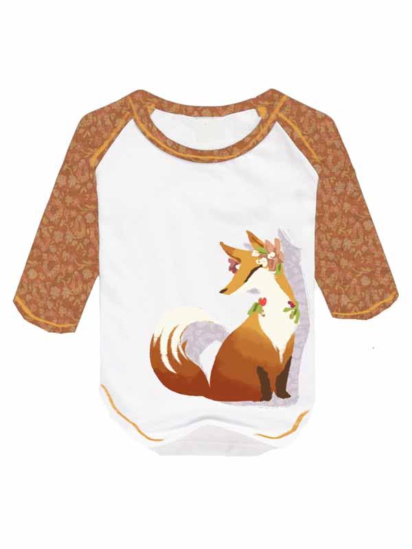 flower corn fox