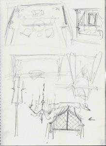 Hook's Cabin sketches
