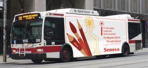 Seneca ILU Ad campaign TTC wrap