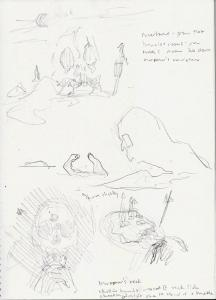 Marooner's Rock sketches